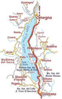 Lago Maggiore Karte.The Orta Lake